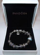 Authentic .925 Sterling Pandora Bracelet W/ 18 Authentic .925 Pandora ALE Charms