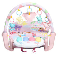 Baby Gym Play Mat 3 in 1 Fitness Music &Lights Play Piano Activity Center Pink