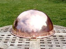 """Copper 12"""" Mixing/Whisking Bowl w/ thick rolled lip, 2+ lbs., Made in France"""