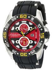 Stuhrling Original Orbit Men's Quartz Watch with Red Dial Analogue Display Black