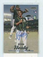 RYON HEALY 2017 TOPPS STADIUM CLUB ON CARD AUTOGRAPH AUTO ROOKIE RC SCA-RHY