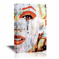 wall26 - Canvas Wall Art - Marilyn Monroe Portrait in Oil Painting Style - 12x18