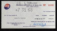 L077 - 1968 PEPSI COLA BOTTLING - SELMA,NORTH CAROLINA
