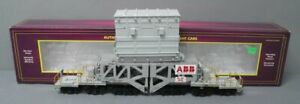 MTH 20-98291 ABB #204 Schnabel Flatcar w/Transformer [2 Rail] EX/Box