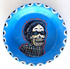 Day of the Dead Mexican Folk Art DISH Día de los Muertos, PATRICK MURILLO, Blue