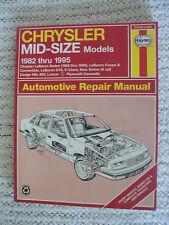 New Haynes Repair Manual for 1982-1995 Chrysler Mid-Size #25030 (1337)