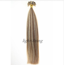 "20"" Keratin Nail U Tip Highlighted 100% Remy Human Hair Extensions 1.0g 100S"