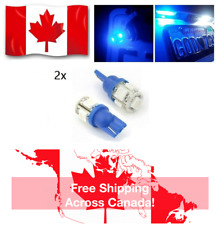 2x T10 Blue 194 168 2825 5050 5SMD LED Bright Car Lights Lamp Bulb Peanut NEW
