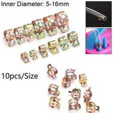 Stainless Steel Spring Clips Tube Clamp Fuel Oil Line Water Hose Pipe Fastener