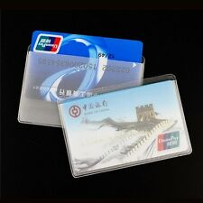 Plastic Cover Name Credit ID Card Bank Sleeves Protector Holder