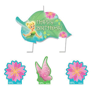 Disney Fairies Tinkerbell Birthday Party Cake Topper Decoration Candles