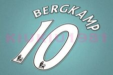 Arsenal Bergkamp #10 PREMIER LEAGUE 07-13 White Name/Number Set