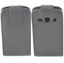 Black Magnetic Leather Flip Phone Case Cover Pouch For SamSung Galaxy Fame S6810