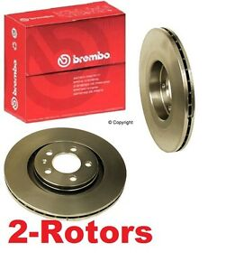 Set of 2 Brembo 25536 Disc Brake Rotor VW Beetle Golf Jetta 2.0L 1.9 Diesel