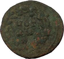 MAXIMIAN  295AD Carthago mint Very rare Ancient Roman Coin Wreath i35945