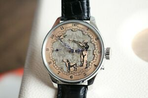 IWC HUNTING Premium Vintage 1881`s New Cased Double Dial Men`s Swiss Wristwatch