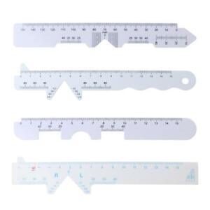 4 Pack PD Ruler Optical Vernier Pupilary Ruler Distance Meter Ophthalmic Tools