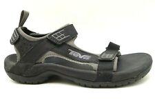 Teva Black Leather Adjustable Strap Casual Outdoor Sandals Shoes Men's 8