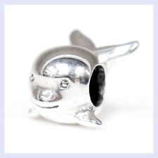 925 Sterling Silver Whale Dolphin Mammal Focal Bead for European Charm Bracelet