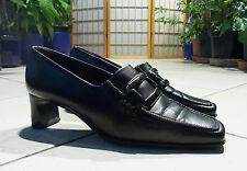 PAUL GREEN Halbschuhe/Loafers/Slipper, Gr.36,5 (3 1/2), schwarz, Leder, SEHR GUT