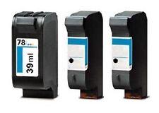 3 Cartridges For HP 51645AE 45 + C6578AE 78 / OfficeJet G55 G85 G95 K60 K80 Ink