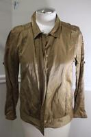 Eileen Fisher bronze full zip jacket size S  (j500)