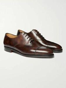 PAUL STUART HARTFORD CORDOVAN CALF Cap-Toe Leather Oxford Shoes SIZE 7.5M NIB