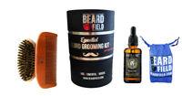 Beard Oil Premium & Boar Bristles Brush & Comb Kit Men Beard / Mustache 2019