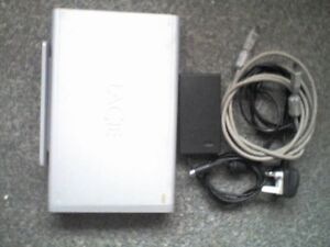 LACIE 400Gb Twin Hi-Speed FIREWIRE 400 Interface with PSU & Cables - D