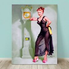 "VINTAGE Pin-up Girl CANVAS PRINT Gil Elvgren  36x24"" Honeymoon Over"