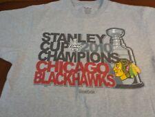 Reebok 2010 Stanley Cup Champions Chicago Blackhawks T Shirt Medium  Z9