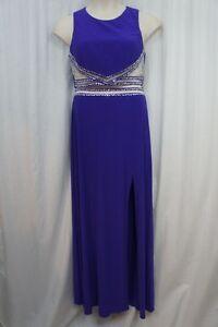 Blondie Nites By Stacy Sklar Juniors Dress Sz 13 Royal Purple 2 Pc Jersey Gown