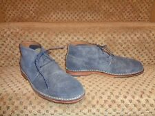 COLE HAAN C13648 DENIM BLUE SUEDE LEATHER LACE-UP CHUKKA ANKLE BOOTS--13 M