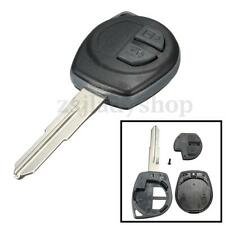 2 Button Remote Key Fob Case Shell + Rubber Pad For Suzuki Swift Ignis Vitara