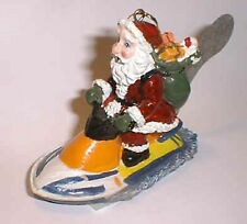 Ornament - SANTA ON A WAVE RUNNER WITH ROSTER TAIL