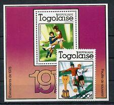 Togo 1282 A Block 128 A postfrisch / Fußball .............................1/3259