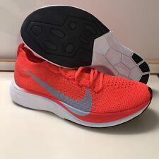 Nike Air Zoom Vaporfly 4% Marathon Run Shoes AJ3857 600 Crimson Red Ice Blue 9