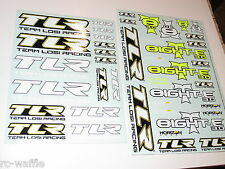TLR04006 TEAM LOSI 1/8 8IGHT-T E 3.0 TRUGGY DECALS SET