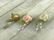 10Pcs Boutonniere Buttonholes Groom Groomsman Best Man Wedding Flowers Accessory