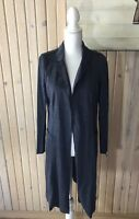 DRA Los Angeles Blue Open Front Sweater Jacket Women's Size Small NWT Long
