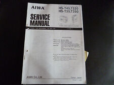 ORIGINALI service manual AIWA HS -- t45 t320/350