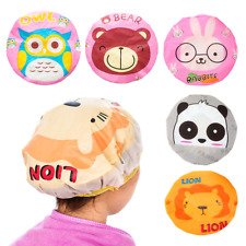 Cartoon Animal Baby Shower Cap Kids Hair Cap PVC Reusable Hair Bonnet Sauna Bath