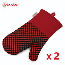 Oven Mitts Red Oven Mitt Heat Resistant Kitchen Mitts BBQ Oven Gloves 2PCs