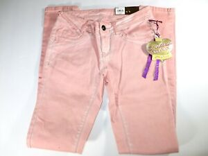 NWT WOMEN'S VERA WANG SKINNY JEANS PINK SIZE 0