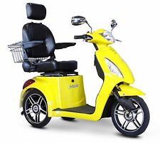 YELLOW EWheels EW-36 3 Wheel FAST Mobility Scooter Electric Rechargeable Battery