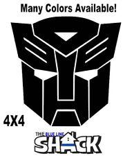 "Transformers Autobot Vinyl Decal Car Action 4""X4""  window sticker"