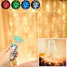 200-300 LED Fairy String Curtain Window Light Lamp Christmas Wedding Party Decor