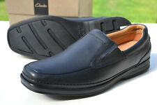 Clarks BNIB Mens Active Air Shoe SCOPIC STEP Black Leather UK 8.5 /42.5 WIDE FIT