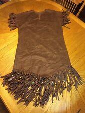 American Indian Dress With Fringe Indian Princess Dark Brown (P290)