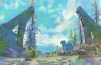 Original Skyrim Elder Scrolls Video Game Landscape Acrylic Dragon Painting Art